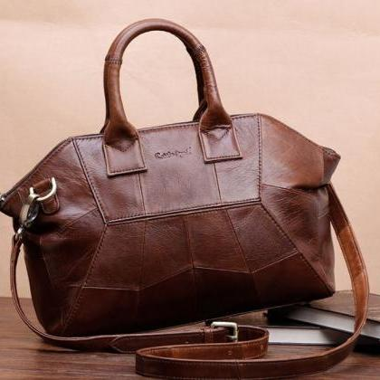 Ready for Shipping-Brown Leather Ba..