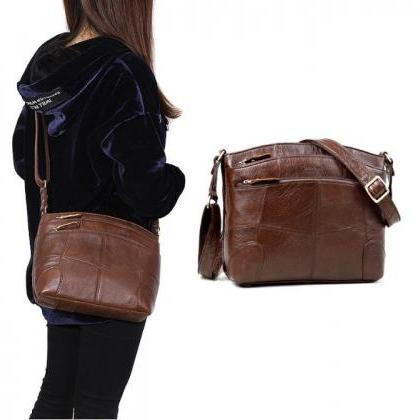 READY TO SHIP Brown Leather Bags fo..