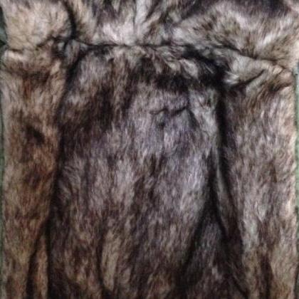 Green Winter Jacket with Faux Fur L..