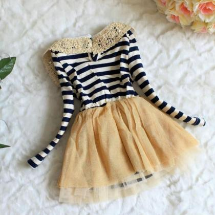 12 Months Infant Dress Stripe Dress..