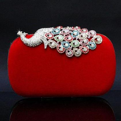 Red Alloy Diamond Peacock Wedding B..