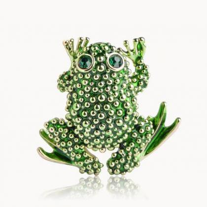 Free Shipping Green Frog Brooch for..