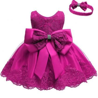 Magenta Dress for Baby Girls with M..