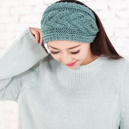 Mint Green Headwraps Knitted Ear Wa..