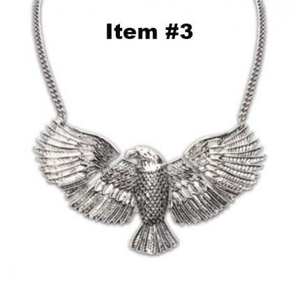 Golden Tone American Eagle Necklace..