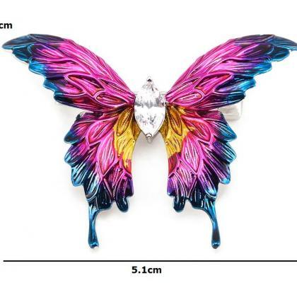 Pink Butterfly Brooch for Women Spe..