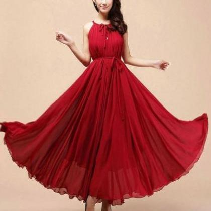 Red Bridesmaids Dress Red Maxi Dres..