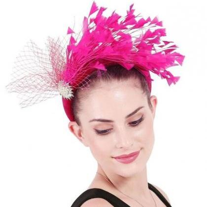 Hotpink Headdress for Women Hotpink..
