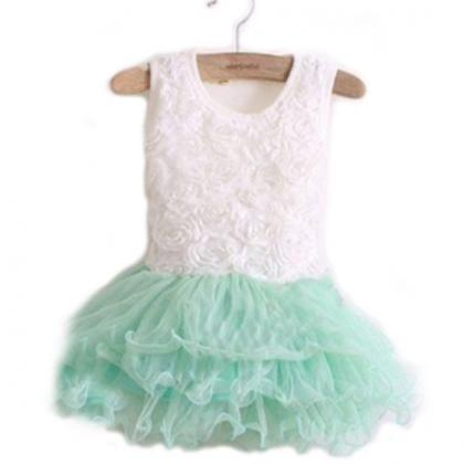 2T MintGreen Toddler Spring Dress 3..