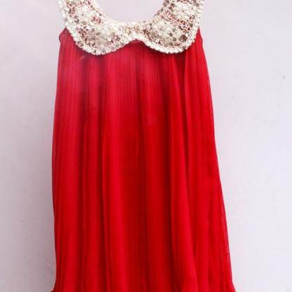 Sequined Red Dress for Toddler Girl..