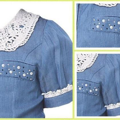 Denim Dress for Bigger Girls Toddle..