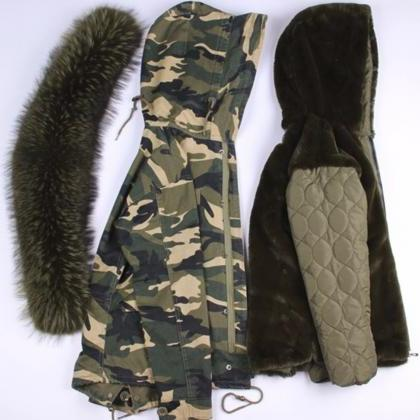 Camouflage Down Parkas Winter Jacke..