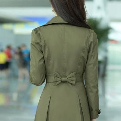 Fashion Golden Color Trench Winter ..