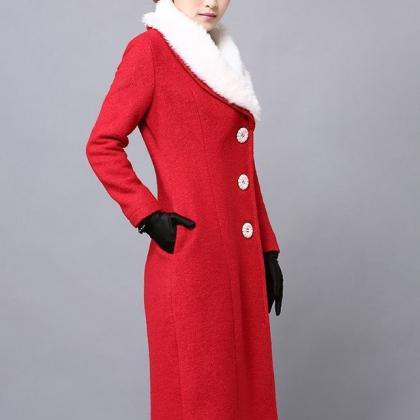 Red Trench Coats Winter Overcoats P..