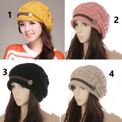 Rsslyn Knitted Beanies for Women wi..