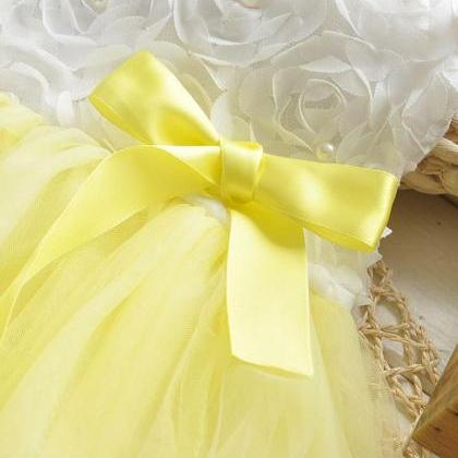 18 Months Yellow Dress with Petals ..
