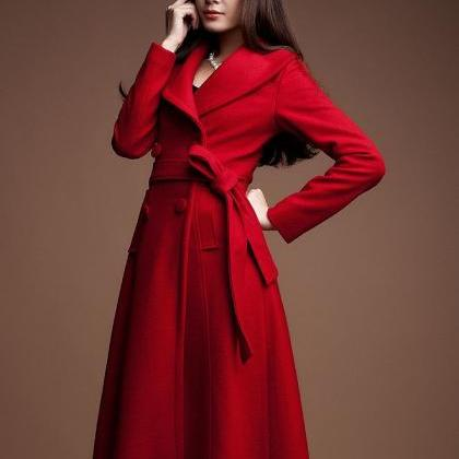 Red Winter Jacket for Women Ultra L..