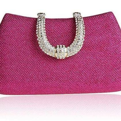 Pink Purse Pink Clutch Wedding Pink..