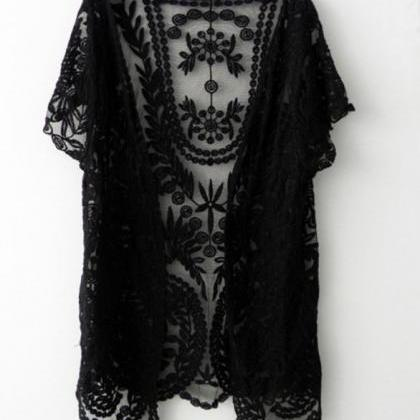 Lace Cardigan Bolero Shrug Off Whit..