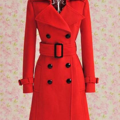 S,M,L,XL Red Jacket WINTER Wool Jac..