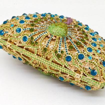 Peacock Clutch Wedding Luxury Purse