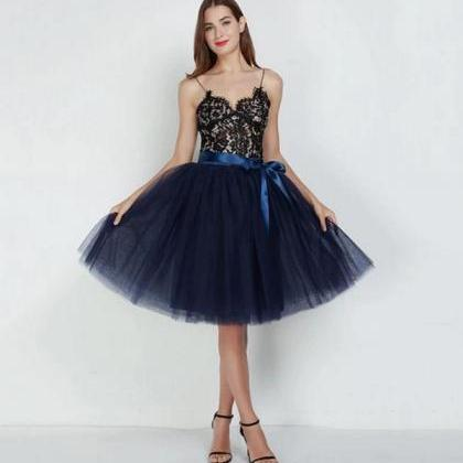 Rsslyn Navy Blue Tutu Skirt for Wom..