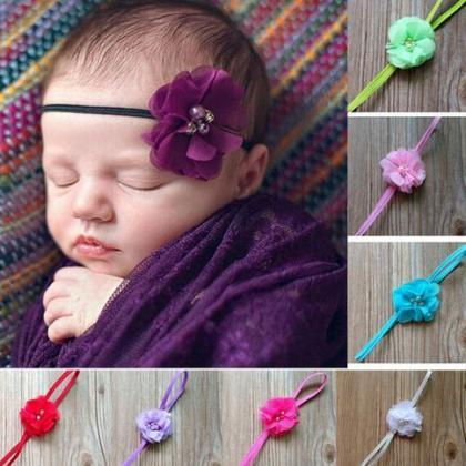 12 Purple Headbands for Newborn Hea..