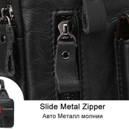 Black Satchel for Men Black Messeng..