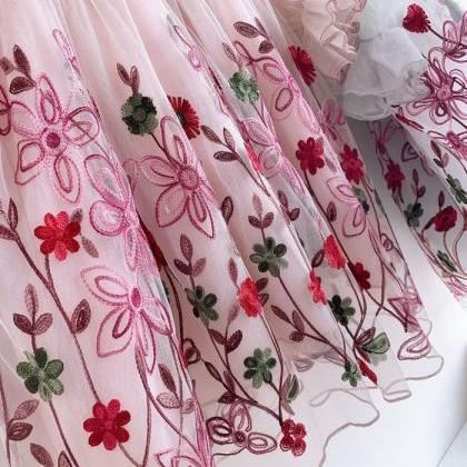 New Beautiful Embroidered Pink Dres..