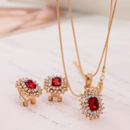 Womens Jewelry Set 18K Gold Plated ..