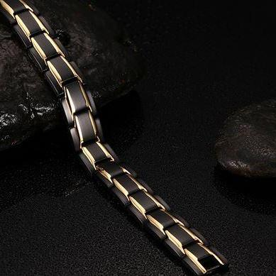 Mens Gold Plated Bracelet Health En..