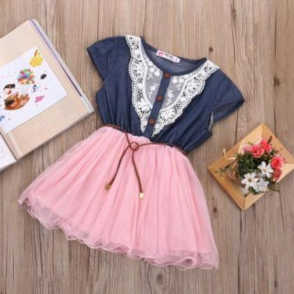 Girls Denim Dress 9mos12mos2T3T