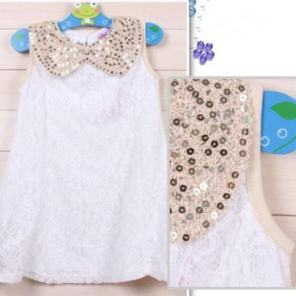 6-9 Months WHITE Dress for Little G..