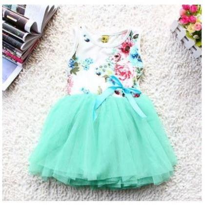 Mintgreen Dress for Girls Mint Gree..