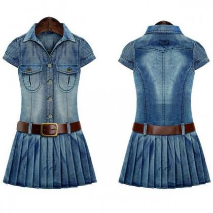 Cowgirl Texas Style Dress with Brow..