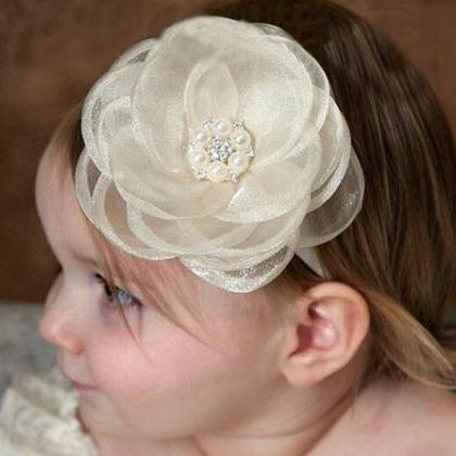 White Headband for Newborn Girls Wh..