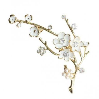Wedding Brooch Bridal White Brooch ..