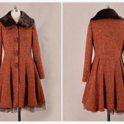 Red Coats Wool Made Plus Sizes with..