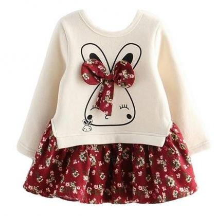 Red Tutu Dress with Sweater Printed..