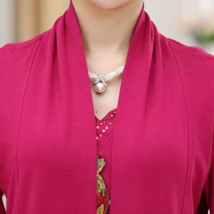 Twinset Magenta Tunic Blouse for Wo..