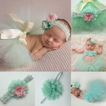 Mintgren Tutu Dress Newborn Props H..