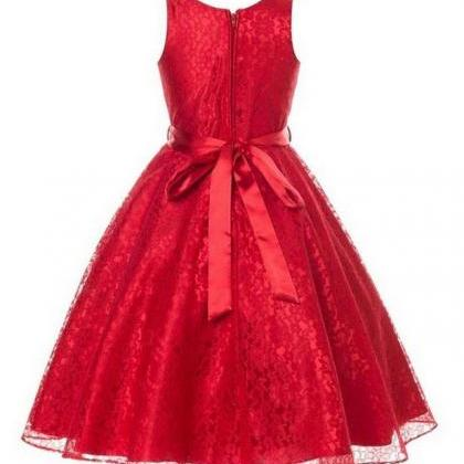 Red Dress for Teen Girls Embroidere..