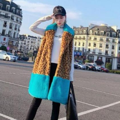 New Leopard Jacket Winter Vests for..