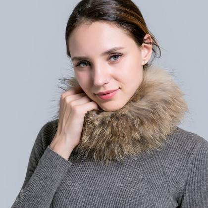 Fur Scarves for Women Fashion Winte..