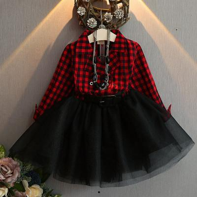 Red Tutu Dress Checkered Dress for Toddler Girls Red Fashion Dress for Girls 2t,3t,4t,5t,6t,7t,8t