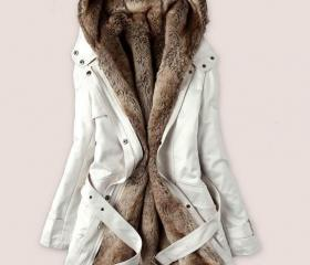 White Parka Jacket w..