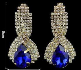 Royal Blue Earrings ..
