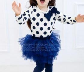 Polka Dots Navy Blue..