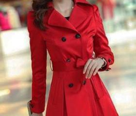 Red Trench Coats Buc..