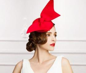 Tall Red Fascinators..